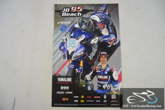 JD Beach #95 Yamaha R6 MotoAmerica Motorcycle Racing Poster