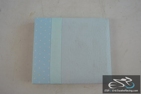 Blue Scrapbook Photo Album With 10 Pages Front / Back