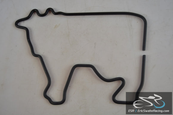 Metal Black Cow Outline Wall Decoration Art