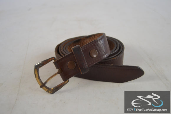 Top Grain Cowhide Women's Brown Leather Belt 45x1