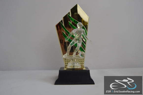 Blank Soccer Trophy Green Black Gold With Black Bottom