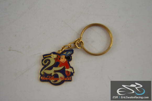 Walt Disney World Keychain With Gold Ring