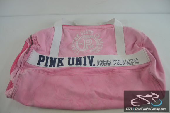 Pink University 1986 State Champs Large Duffel Bag 26x16x16