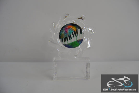 Blank Clear Piano Music Trophy Award