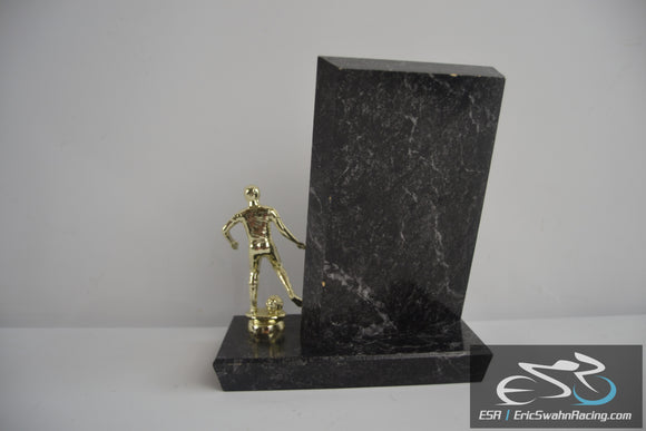 Blank Black / Gold Soccer Player Placque Trophy Award - DHSC