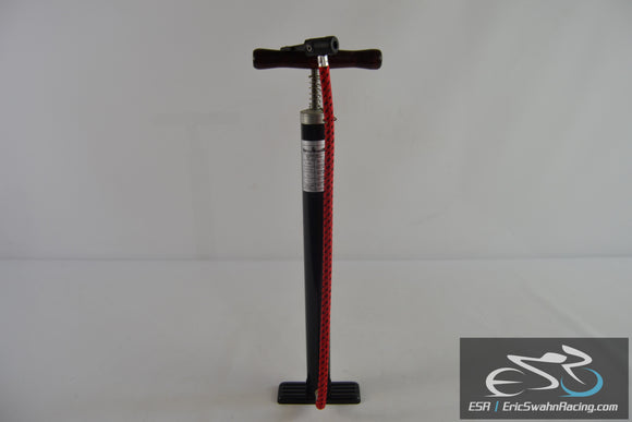 Royce Union Black Bicycle Pump With Red Hose Up to 85 PSI