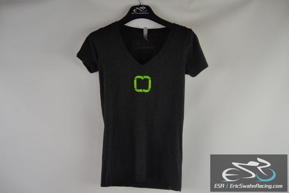 Movestrong Next Level Apparel Women's Black / Green Shirt Size Small