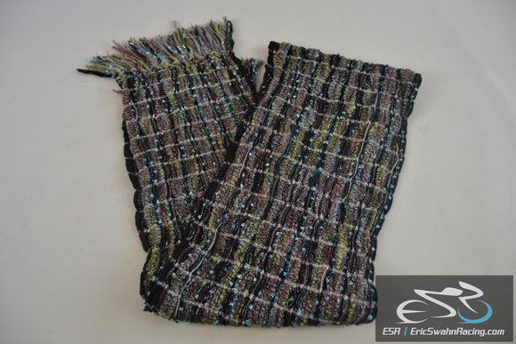 Large Multicolored Scarf Scarve Wrap With Fringe