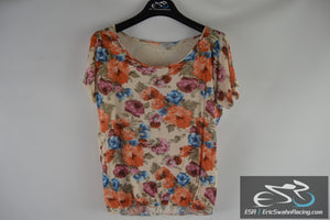 Charlotte Russe Women's Floral Pattern Top Blouse Size Large
