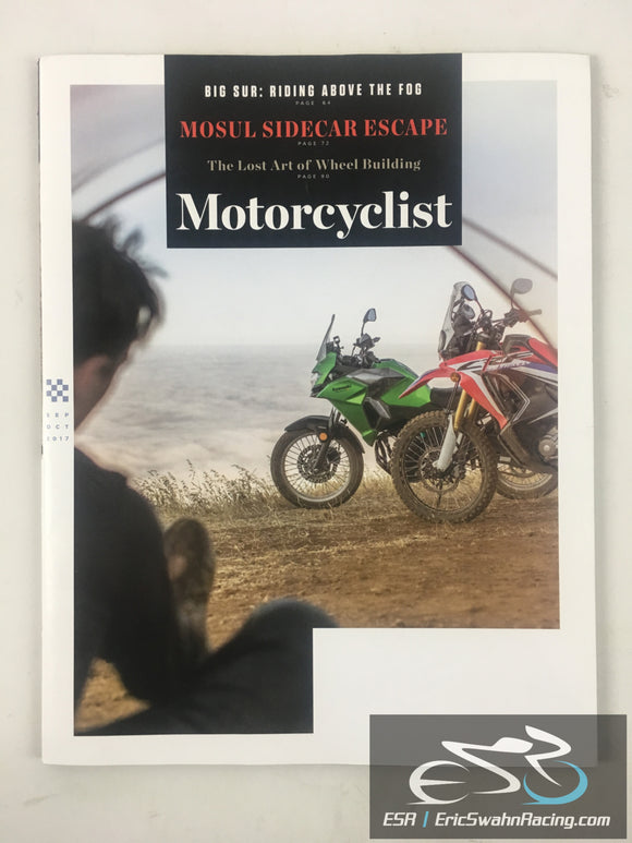 Motorcyclist Magazine September / October 2017 Big Sur, Sidecar Escape
