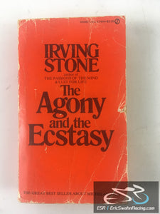The Agony And The Ecstasy Paperback Book Irving Stone 1961 Signet Classics