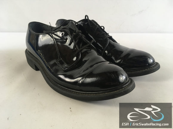 Bates Uniform Footwear Men's Black High Gloss Dress Work Shoes US Size 8.5