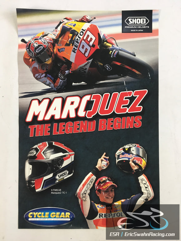 Marc Marquez The Legend Begins Motorcycle Racing Shoei Helmets Cyclegear 17x11