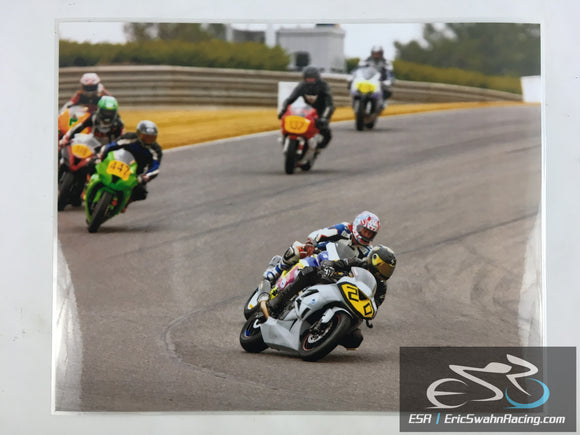 ESR Eric Swahn Racing Motorcycle Racing Laminated Poster 2012.1 20x16