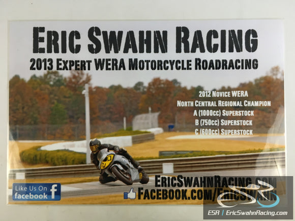 ESR Eric Swahn Racing Motorcycle Racing Laminated Poster 2012.3 30x20