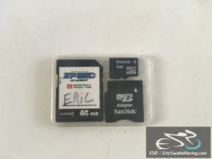 Memory Card Clear Case Only - Fits SD, Micro SD, & Micro SD Adapter Cards