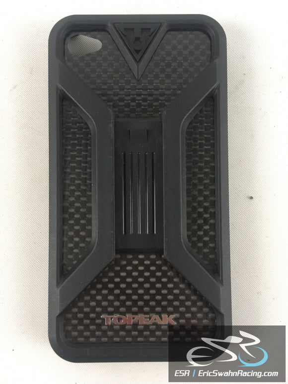Topeak Black Carbon Fiber Phone Holder iPhone 4S Bike Bicycle Mount Case