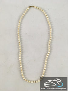 Pearl And Gold Necklace Jewelry With Gift Box