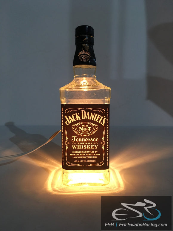 Custom Handmade Jack Daniels Tennessee Whiskey Licquor Bottle Bar Light