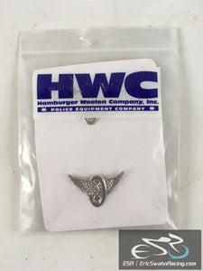 HWC Hamburger Woolen Company, Inc. Police Equipment Company Silver Pins