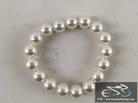 White Pearl Fashion Jewelry Stretchy Bracelet