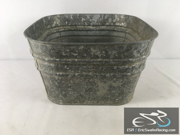 Steel Bin Bucket With Handles 19x19x11
