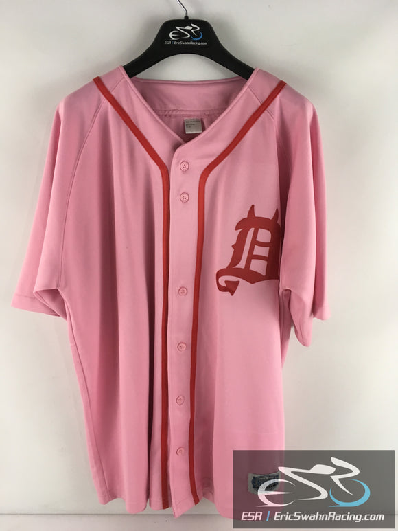 Detroit Tigers Red Devil Logo Encore Select Women's Pink Jersey Size XL