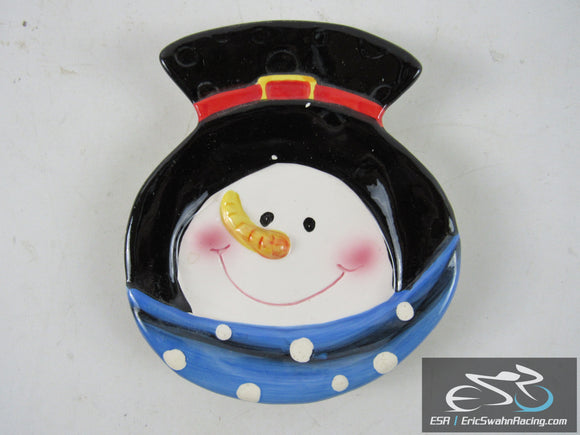Snowman Holiday Christmas Dish Plate Studio 33