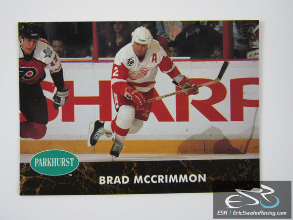 Brad McCrimmon 271 Detroit Red Wings NHL Hockey Card Parkhurst 1992