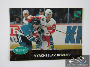 Vyacheslav Kozlov Rookie 266 Detroit Red Wings NHL Hockey Card Parkhurst 1992
