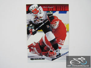 Chris Osgood 28 Detroit Red Wings NHL Hockey Card Donruss 1997