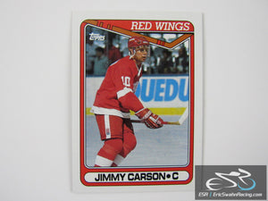 Jimmy Carson 231 Detroit Red Wings NHL Hockey Card Topps 1990