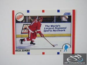 Rick Zombo 101 Detroit Red Wings NHL Hockey Card Score 1990