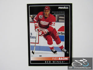 Yves Racine 332 Detroit Red Wings NHL Hockey Card Score Pinnacle 1992