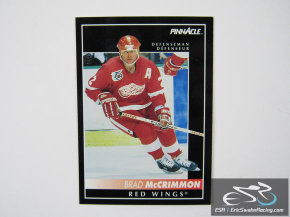 Brad McCrimmon 124 Detroit Red Wings NHL Hockey Card Score Pinnacle 1992