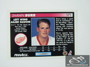 Shawn Burr 171 Detroit Red Wings NHL Hockey Card Score Pinnacle 1992