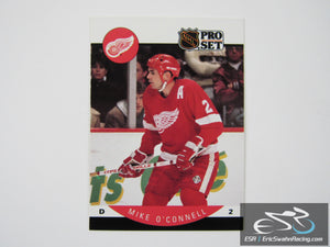 Mike O'Connell 75 Detroit Red Wings NHL Hockey Card Pro Set 1990