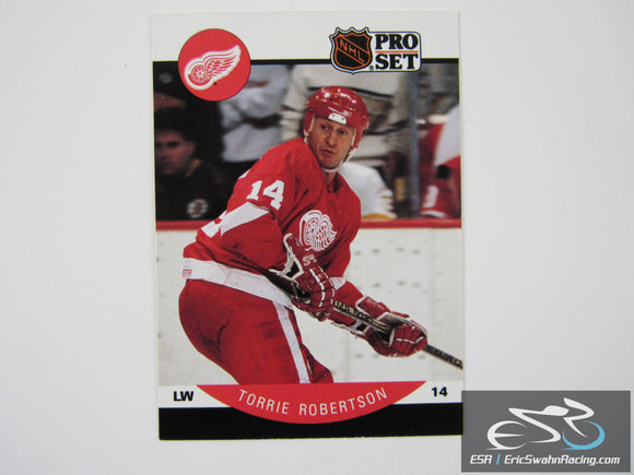 Torrie Robertson 77 Detroit Red Wings NHL Hockey Card Pro Set 1990