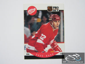 Dave Barr 65 Detroit Red Wings NHL Hockey Card Pro Set 1990