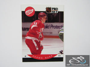 Shawn Burr 66 Detroit Red Wings NHL Hockey Card Pro Set 1990