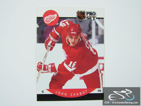John Chabot 68 Detroit Red Wings NHL Hockey Card Pro Set 1990