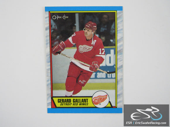 Gerard Gallant 172 Detroit Red Wings NHL Hockey Card O-Pee-Chee 1989