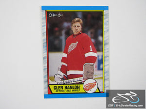 Glen Hanlon 144 Detroit Red Wings NHL Hockey Card O-Pee-Chee 1989