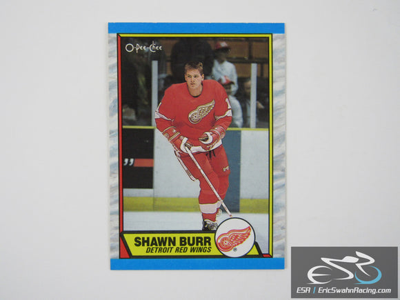 Shawn Burr 101 Detroit Red Wings NHL Hockey Card O-Pee-Chee 1989