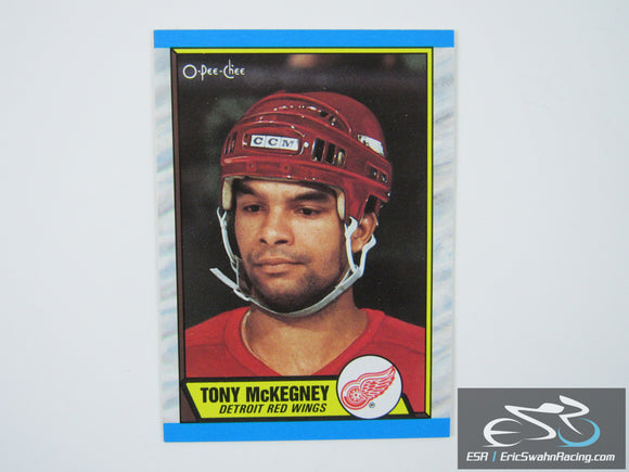 Tony McKegney 4 Detroit Red Wings NHL Hockey Card O-Pee-Chee 1989