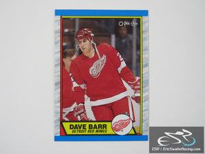 Dave Barr 13 Detroit Red Wings NHL Hockey Card O-Pee-Chee 1989