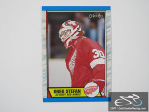 Greg Stefan 23 Detroit Red Wings NHL Hockey Card O-Pee-Chee 1989