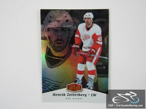 Henrik Zetterberg 40 Detroit Red Wings NHL Hockey Card Flair Showcase 2006