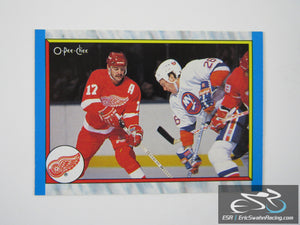 Final Standing 302 Detroit Red Wings NHL Hockey Card O-Pee-Chee 1989