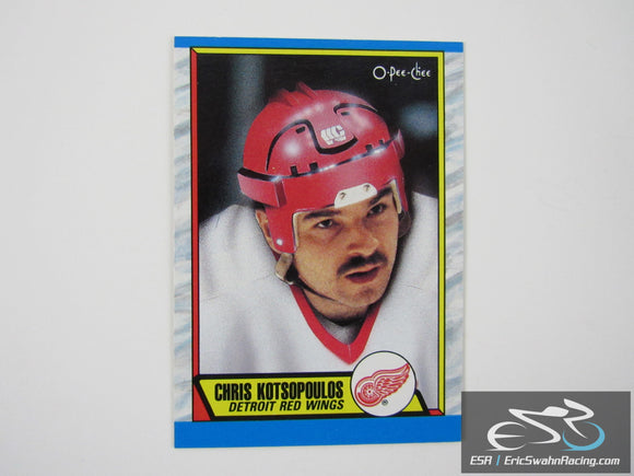 Chris Kotsopoulos 279 Detroit Red Wings NHL Hockey Card O-Pee-Chee 1989